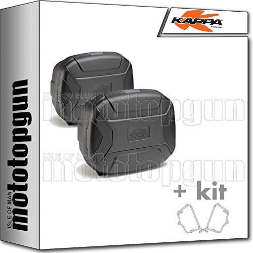 kappa maletas laterales kvc35npack2 k'vector 35 lt + portamaletas laterales monokey compatible con honda xl 700 v transalp 2012 12