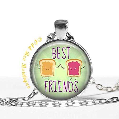 Best Friends Peanut Butter & Jelly Necklace