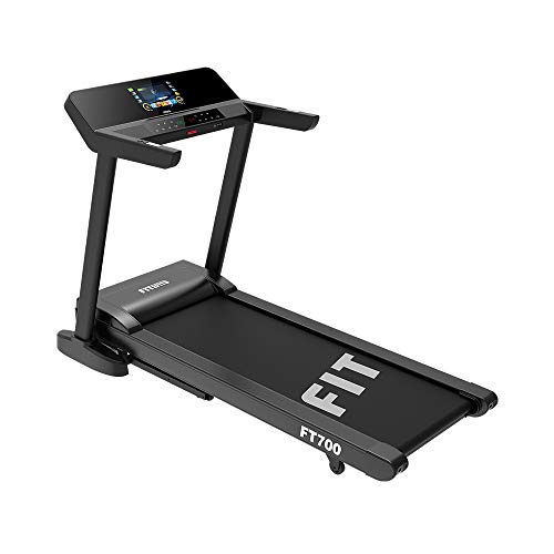 Fitifito FT700 Profi Laufband 3,5PS, 18 Steigung, Lauffläche 51x150cm, bis 130KG, kompatible mit 3 APPs, Multimedia Unterhaltung mit WIFI,16 Workouts, klappbar, LED Touchscreen bunt, Tablethalter, Bluetooth