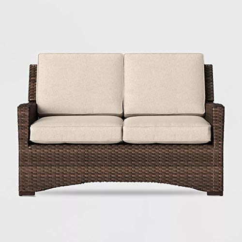 Halsted Wicker Patio Loveseat - Tan - Threshold™