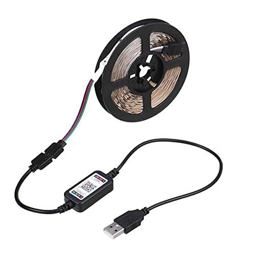 Zay Luay Luces 1M / 2M / 3M / 4M / 5M 5V Bluetooth APLICACIÓN LED Luz de Tira USB Poder no Impermeable 5050 RGB Sincronización Musical TELEVISOR Iluminar Desde el Fondo (Color : 4M)