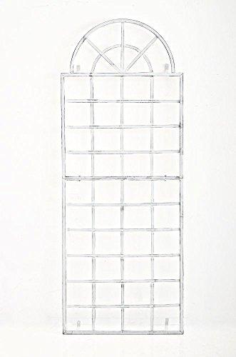Treillis VIVA avec Cadre, Treillis à montage murale en fer, Treillis pour Plantes Grimpantes, Taille: 180 x 70 cm, Support Murale pour plantes grimpantes, montage facile, 6 Couleurs au Choix, Couleurs:antique blanc