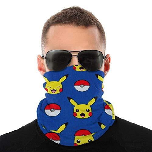 Pikachu Weihnachtsmütze - Multifunktionale Kopfbedeckung Bandana Sports Face Covers, Bandana Mundschutz Halsmanschette für Workout Running für Unisex