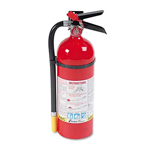 Kidde 466112 ProLine Pro 5 MP Fire Extinguisher, 3 A, 40 B:C, 195psi, 16.07h x 4.5 dia, 5lb