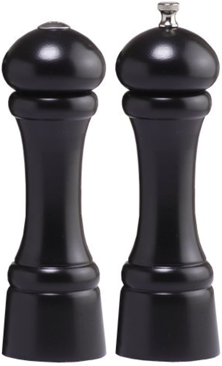 Chef Specialties 8 Inch Windsor Pepper Mill and Salt Shaker Set - Ebony