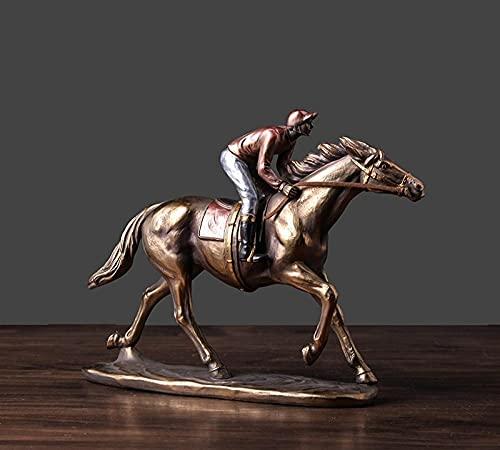 部屋の装飾 動物置物 レトロな競馬工芸品の装飾創造的な家のリビングルームのオフィスの装飾