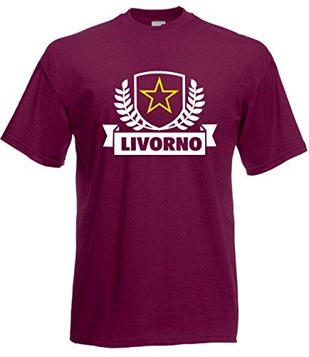 Settantallora - Camiseta - para hombre burdeos Large