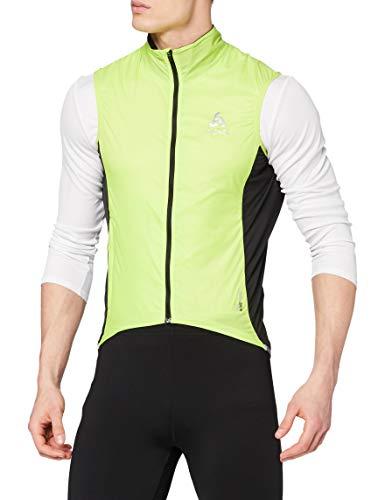 Odlo FUJIN Veste sans Manches Cyclisme Homme, Acid Lime-Black, FR : L (Taille Fabricant : L)