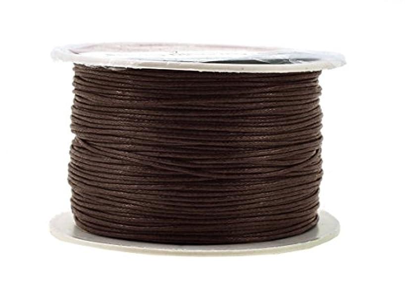 Mandala Crafts 1mm 109 Yards Jewelry Making Beading Crafting Macramé Waxed Cotton Cord Thread (Bistre Brown)