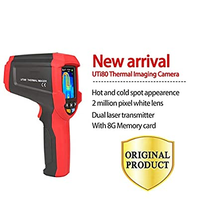 DZSF Thermal Imaging Camera, Digital Thermometer Imager Infrared Camera 4800 Pixels High Resolution Color Screen USB Charge