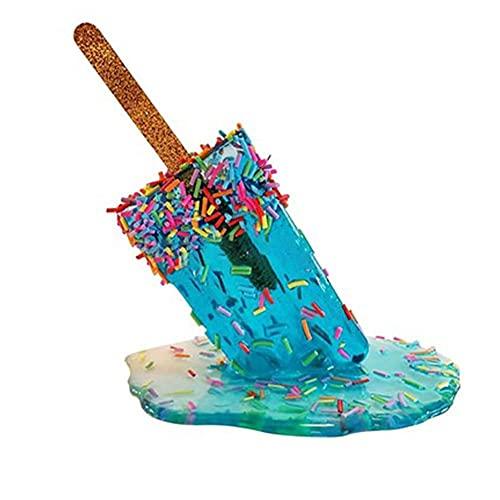 Decoración de resina epoxi, decoración de manualidades con forma de helado, ideal para decoración en el hogar, oficina, dormitorio, mesa, jardín, paisaje, decoración en miniatura