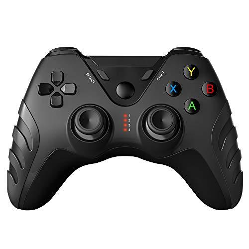 Winnes Controlador de Juegos Inalámbrico PS3, Control Remoto para Pc, Gamepad Bluetooth con Joystick Turbo, Botones compatibles con PC / Android / PS3 / Teléfono / TV Box / Tableta