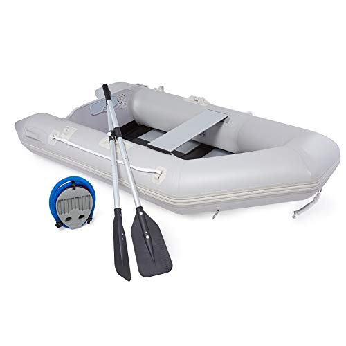 CO-Z Heavy Duty Inflatable Kayak for Adults 230x130x33cm Portable Raft 2 Person 300kg Cap. PVC Inflatable Dingy Boat for…
