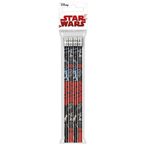 Derform Star Wars 4 Bleistifte Stifte Holzstifte mit Radiergummi Mitgebsel