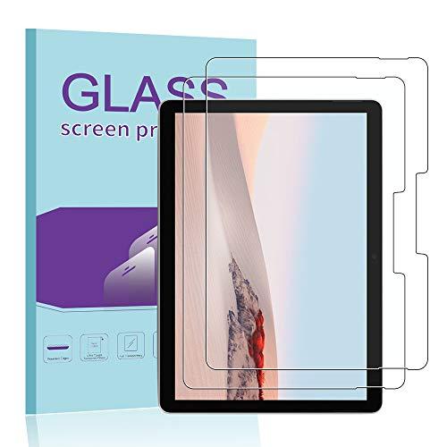 Janmitta para Microsoft Surface Go 2 Protector de Pantalla [2 Piezas], 9H Dureza [Alta Definicion] [Fácil de Instalar] Cristal Vidrio Templado Film para Microsoft Surface Go 2