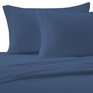 Brielle Egyptian Cotton Jersey, Queen Sheet Set, Moonlight Blue