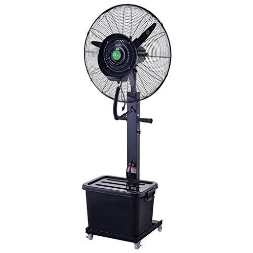 Ventilador de Agua en Spray Ventilador silencioso Ventilador de Pedestal Comercial Ventilador de Niebla Grande nebulizador de Agua Ventilador Vibrante Kit, 3 Velocidad de enfriamiento 40 l, ventilad