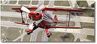 Planejunkie Pitts S-2B by Larry McManus - Pitts Special - Aviation - Digital Art Print (Artist Canvas - 48