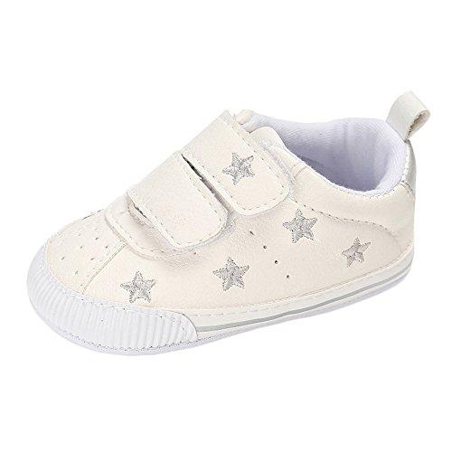 Matt Keely - Zapatillas de piel sintética con suela suave para bebés y niños, color Plateado, talla 6-12 meses