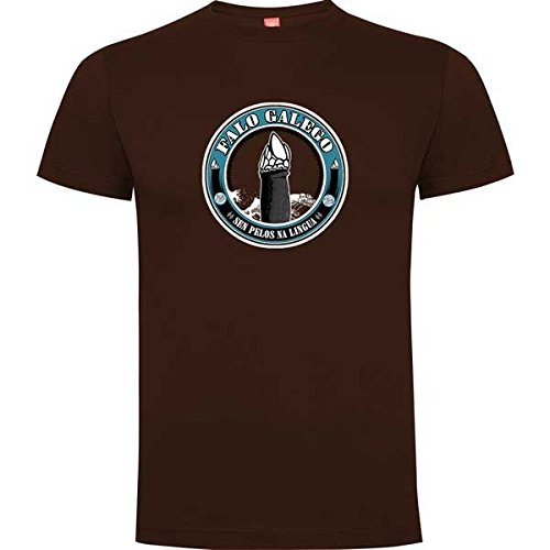 Rei Zentolo Falo Galego - Camiseta Regular para Hombre, Color Chocolate, Talla S