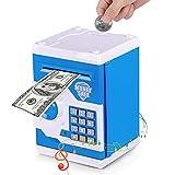 Vubkkty Hucha para niños, Grandes Bancos de Monedas electrónicas con protección de contraseña, Caja de Ahorro automática de Papel Moneda, Gran Regalo para niñas y niños