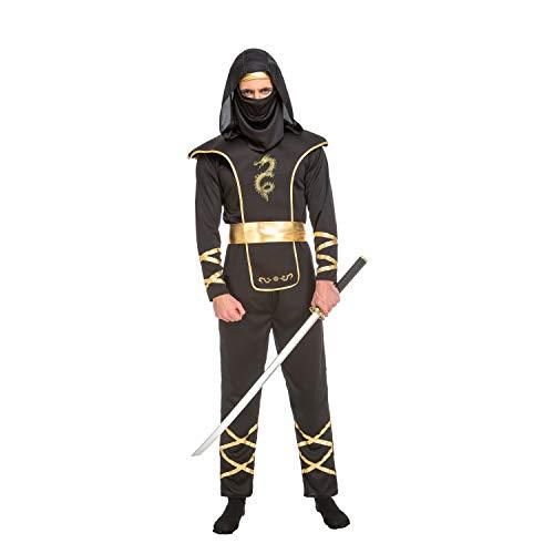 My Other Me Me-204890 Disfraz de ninja para hombre, color negro, M-L (Viving Costumes 204890)
