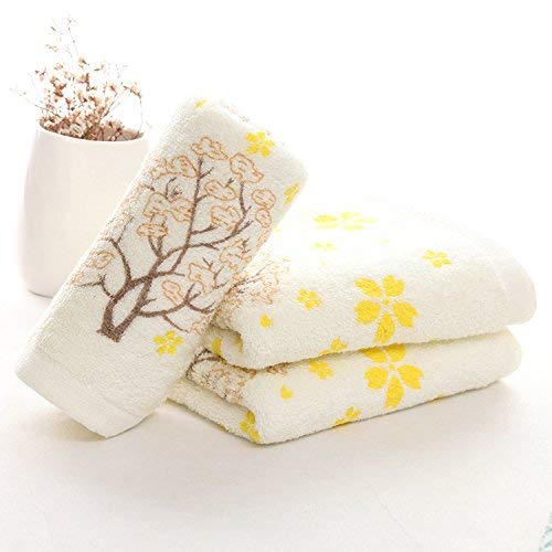 Emmala handdoeken van puur katoen, 90 g, stempel, handdoeken, zacht en comfortabel, eenvoudige stijl, supermarkt, naar roze, 32 x 73 cm, thuis, dagelijks, zacht, warm, absorberend, handdoeken