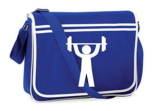 Druckerlebnis24 Schultertasche - Fitness Studio Piktogramm Sportler - Umhängetasche, geeignet für Schule Uni Laptop Arbeit