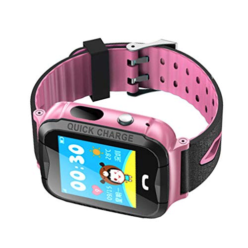 Smart Watch Kids Real Time Tracking Polshorloge Waterdicht Babyhorloge Voice Chat Kinderen HD Camera Smartwatch