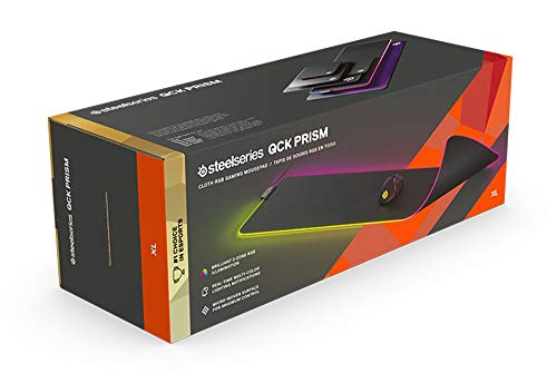 SteelSeries QcK Prism Cloth XL - Gaming Mouse Pad - 2 Zones RGB Lighting - Real Time Event Lighting - CS: GO Neon Rider Edition PC