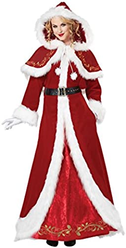 Deluxe Classic Mrs. Claus Fancy dress costume Large