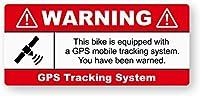 WARNING GPS盗難自動車用 注意看板メタル安全標識注意マー表示パネル金属板のブリキ看板情報サイントイレ公共場所駐車