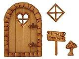 Puerta de hada con forma de coraz贸n de guijarro y puerta de hada tridimensional para...
