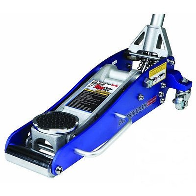 3000 Lb Aluminum Racing Floor Jack 1.5 Ton Low Profile Sports Car Compact Blue