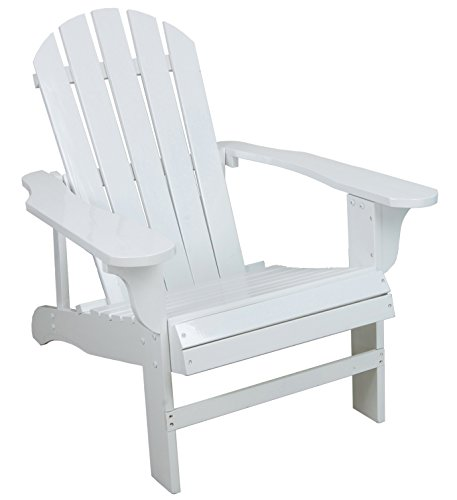 Leigh Country Classic White Painted Wood Adirondack Chair