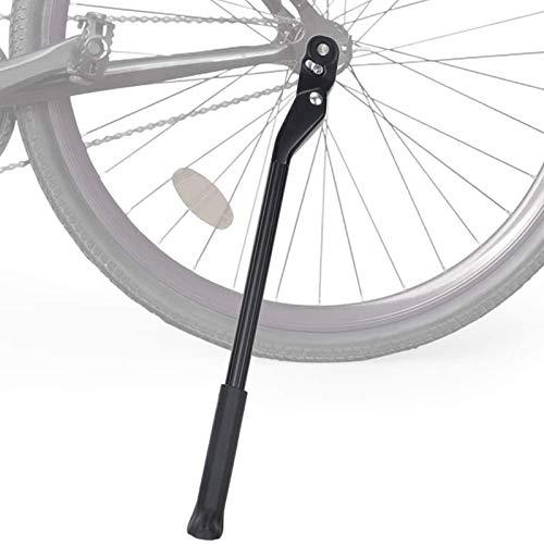 Cavalletti per bici Supporto regolabile Lega alluminio Fibra carbonio Cavalletto universale Bicicletta Cavalletto laterale nascosto a molla per 24-27,5 in Mountain bike,Bicicletta strada e 700C 650C