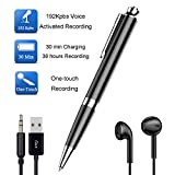 KerLiTar Pen Digital Voice Recorder with Playback Voice Activated Recorder for Lectures with Long Battery Life Metal Recording Device Easy to Use USB Rechargeable