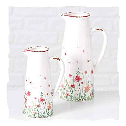 Boltze - CARAFFA Piccola in Porcellana con Manico Flowery