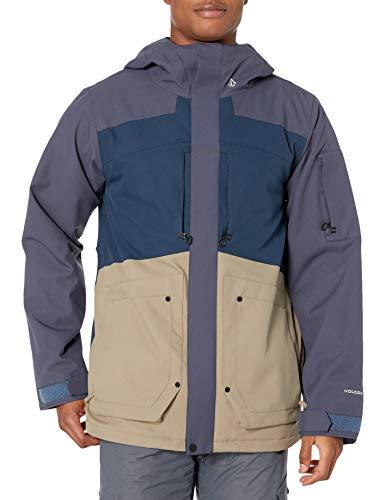 Volcom Scorth - Chaleco de nieve para hombre azul marino L