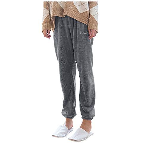 Pantalon Thermique pour Femmes Hiver Laine synthétique Pantalon LuckyGirls 2020 Chic Femmes survêtement Large Taille Haute élastique Pas Cher Printemps Pantalon Femme Pyjama Sarouel Robe