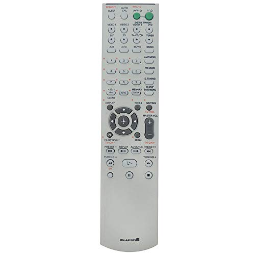 RM-AAU013 Replace Remote Control Compatible with Sony AV Receiver Home Theater STR-DG510 HT-DDW790 STR-K790 HT-DDW795 SS-WP700 SS-CNP700 STR-K1600 HT-DDW1600 HT-DDW685 SS-MSP900 SS-SRP900 SS-CNP680