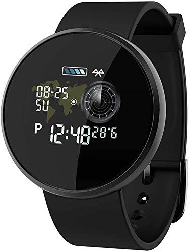 JIAJBG Moda Pantalla Táctil Completa Ronda de Smart Watch, Ip68 a Prueba de Agua Reloj Inteligente, Fitness Inteligente Reloj, Control de Las Pulsaciones Del Reloj con el Perseguido