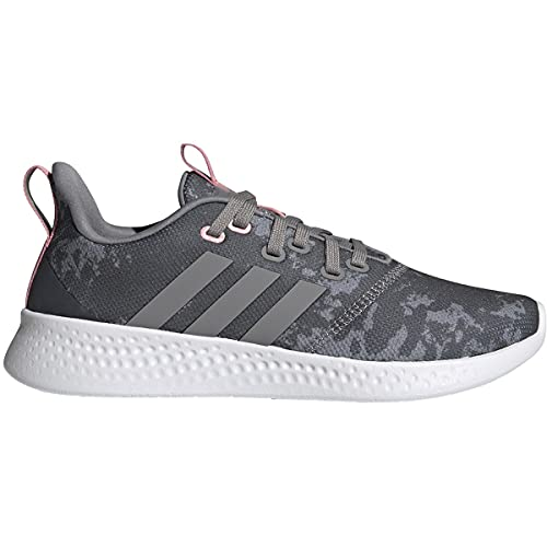 adidas Women's Puremotion Grey/Super Pop Running Shoe 8 M US
