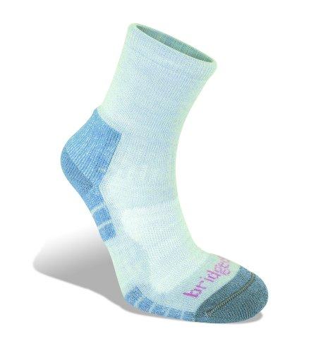 Bridgedale Dames Hike Lichtgewicht Merino Endurance Enkel Patroon Sokken, Grijs/Smokey Blauw, Groot