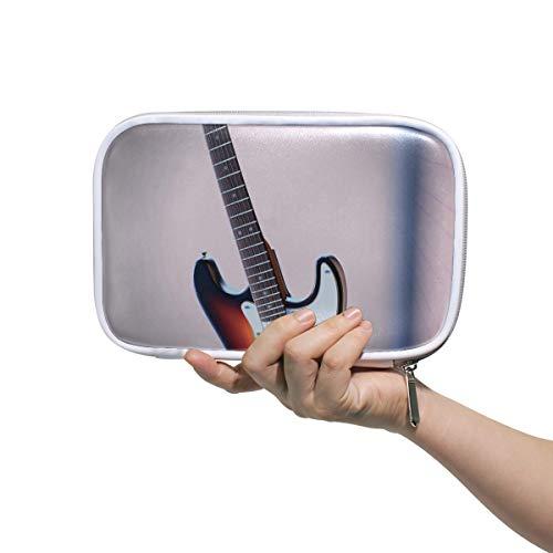 DEZIRO Guitarra Eléctrica Patrón Multifuncional Maquillaje Brush Holder Organizador Bolsa Cosmética Bolsa...