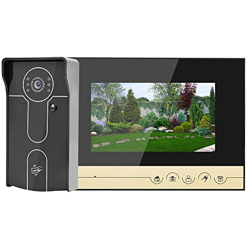 Hakeeta videodeurbel, videodeurstaander HD 7in, waterdicht, voor Villen Apartments Residenzen hotels, ondersteuning TF-kaart, nachtzicht, elektrisch slot, eenvoudige installatie
