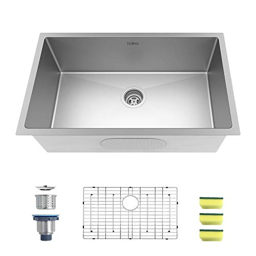 TORVA 30-Inch Undermount Kitchen Sink,...