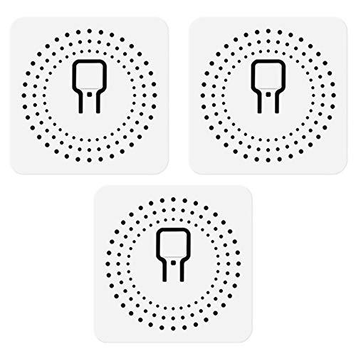 Sonline Interruptor Wifi Inteligente de 3 Piezas 16A Compatible con Interruptor Universal de Casa Inteligente de Control/Voz de 2 VíAs Funciona para Alexa