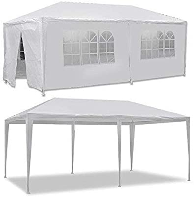 BBBuy 10 x 20 Outdoor Party Wedding Tent Canopy Camping Gazebo Storage BBQ Shelter Pavilion, 6 Removable Sidewalls (10x20)