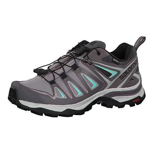 Salomon Women's X Ultra 3 GTX Trail Running Shoe, magnet, 5.5 M US